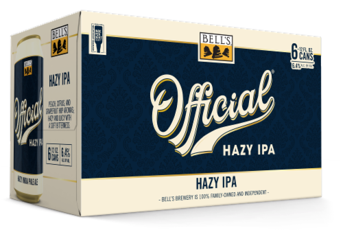 Bell's Brewery Official Hazy IPA Perspective: front