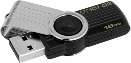 Kingston DataTraveler® 101 G2 USB Flash Drive - Black Perspective: front