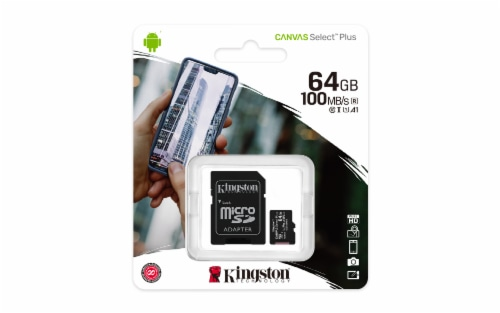 Kingston Canvas Select Plus microSD Memory Card Perspective: front