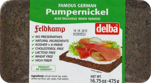 Feldkamp Pumpernickel Bread Perspective: front