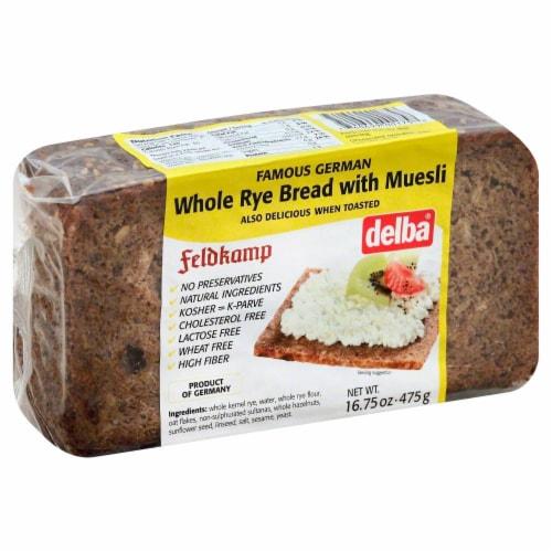 Feldkamp Whole Rye Bread with Muesli Perspective: front
