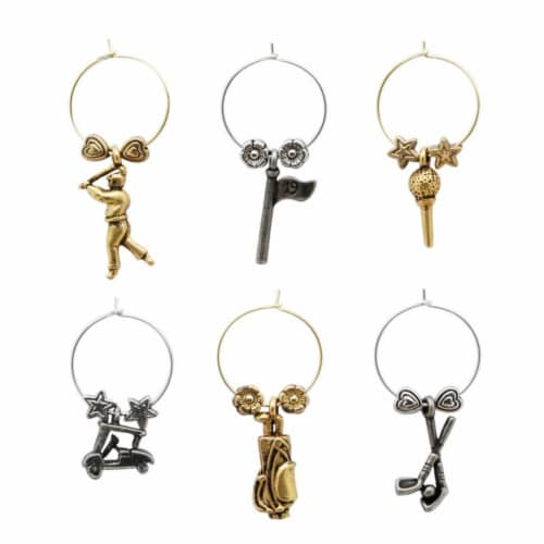 Supreme Housewares Wine Glass Charms, Fore Perspective: front