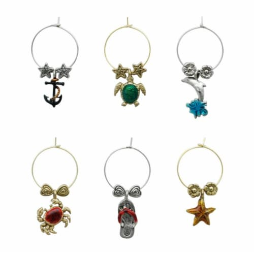 Supreme Housewares Wine Glass Charms, By The Bay Perspective: front