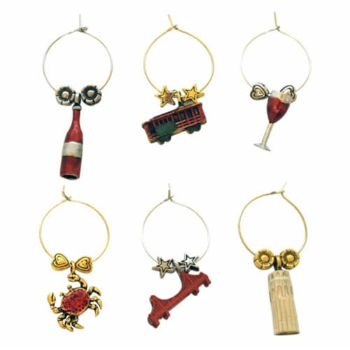 Supreme Housewares Wine Glass Charms, San Francisco Perspective: front