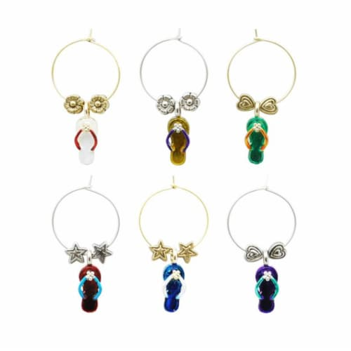 Supreme Housewares Wine Glass Charms, Beach Party Perspective: front