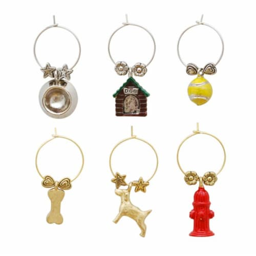 Supreme Housewares Wine Glass Charms, A Dog's Life Perspective: front