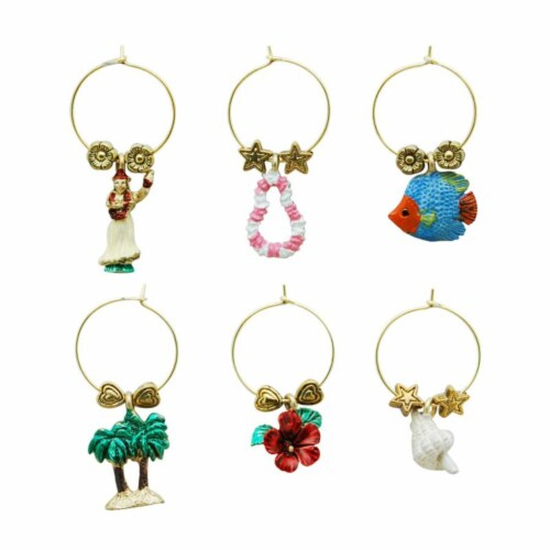 Supreme Housewares Wine Glass Charms, Hula Perspective: front