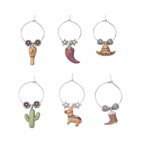 Supreme Housewares Wine Glass Charms, Viva Mexico! Perspective: front