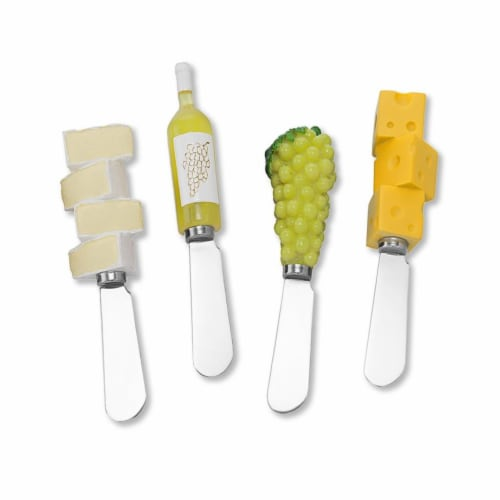 Supreme Housewares Spreader Set of 4-White Wine Party Perspective: front