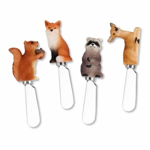 Supreme Housewares Spreader Set of 4-Woodland Animals Perspective: front