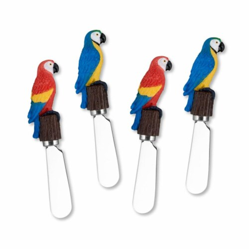 Supreme Housewares Spreader Set of 4-Parrots Perspective: front