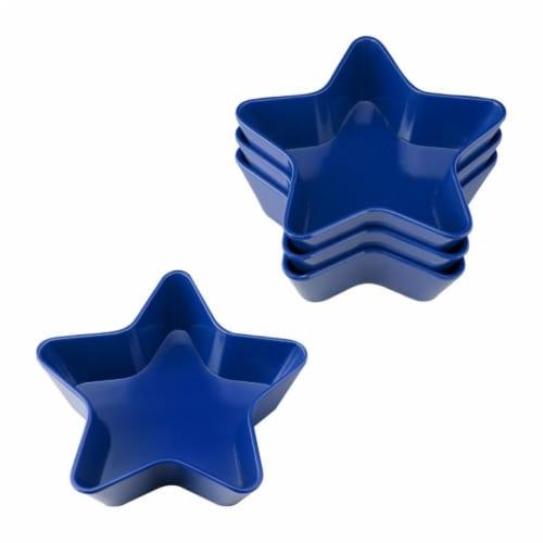 """Supreme Housewares 5.75"""" Melamine Star Bowl, Set of 4, Blue Perspective: front"""