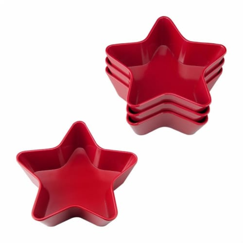 "Supreme Housewares 5.75"" Melamine Star Bowl, Set of 4, Red Perspective: front"