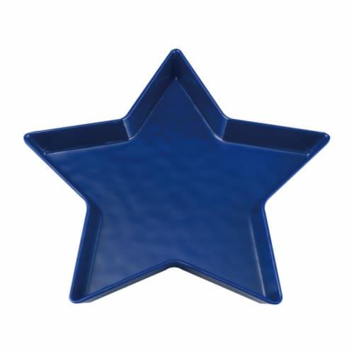 "Supreme Housewares 11.25"" Melamine Star Plate, Blue Perspective: front"