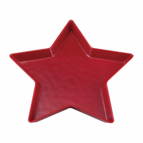 "Supreme Housewares 11.25"" Melamine Star Plate, Red Perspective: front"