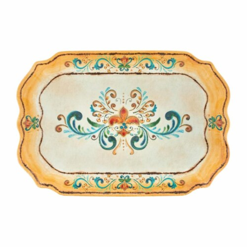 "Supreme Housewares Tuscany 20"" Rectangular Tray Perspective: front"