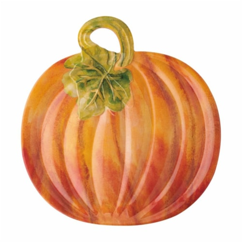 "Supreme Housewares Pumpkin 16.25"" Platter Perspective: front"