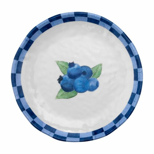 "Supreme Housewares 6"" Blueberry Plate, Set of 4 Perspective: front"