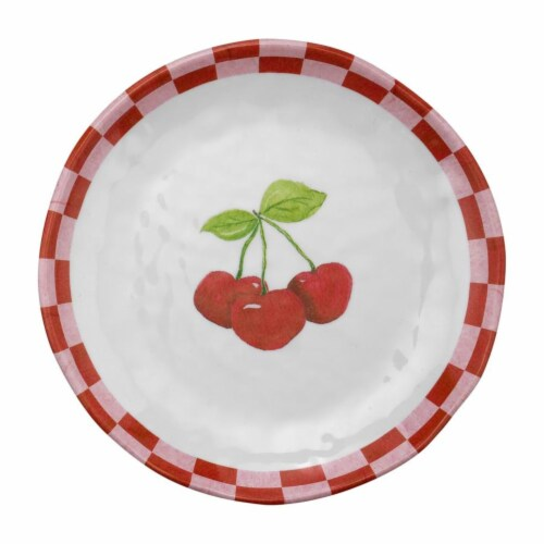 "Supreme Housewares 6"" Cherry Plate, Set of 4 Perspective: front"