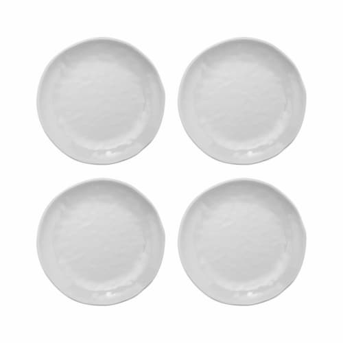"""Supreme Housewares 6"""" Melamine White Plate, Set of 4 Perspective: front"""