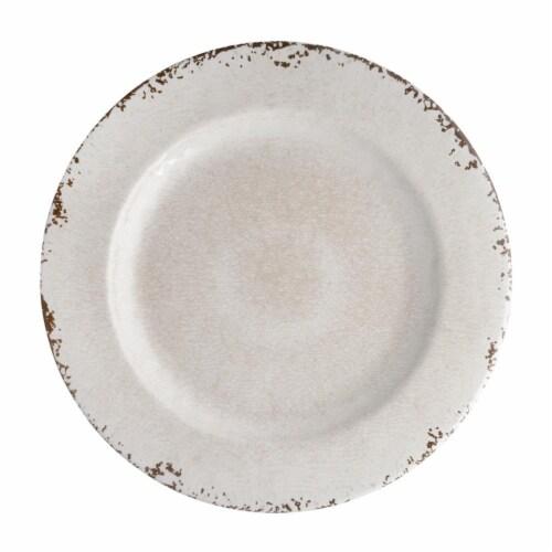 "Supreme Housewares Crackle, Melamine 11"" Plate, Cream Perspective: front"