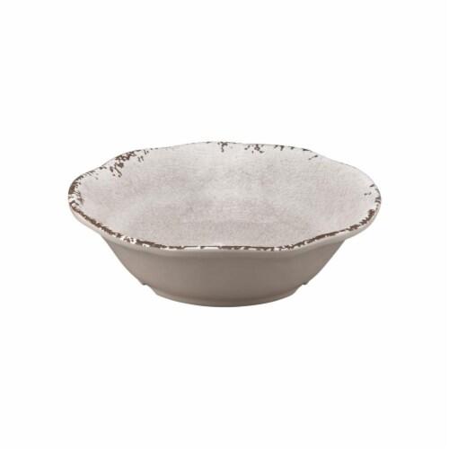 "Supreme Housewares Crackle, 7"" Melamine Bowl, Cream Perspective: front"