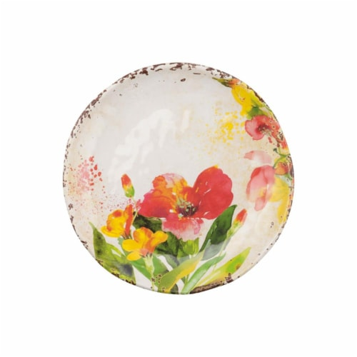 "Supreme Housewares Tropical Hibiscus, Melamine 6"" Plate Set of 4 Perspective: front"