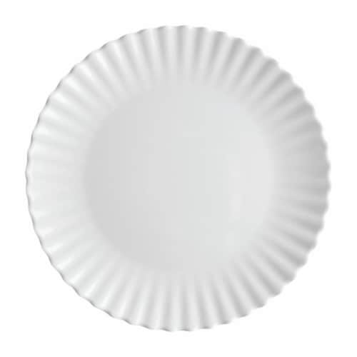 """Supreme Housewares Ruffle, 11"""" Melamine Plate Perspective: front"""