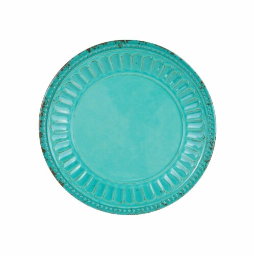 "Supreme Housewares Chateau, 6"" Melamine Plate Set of 4, Turquoise Perspective: front"