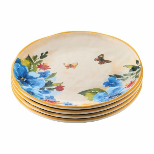 """Supreme Housewares Butterfly, 6"""" Melamine Plate Set of 4 Perspective: front"""