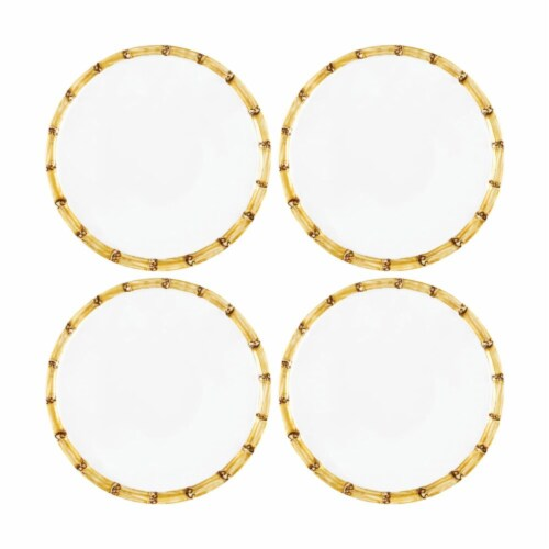 """Supreme Housewares Bamboo, 6"""" Melamine Plate Set of 4 Perspective: front"""