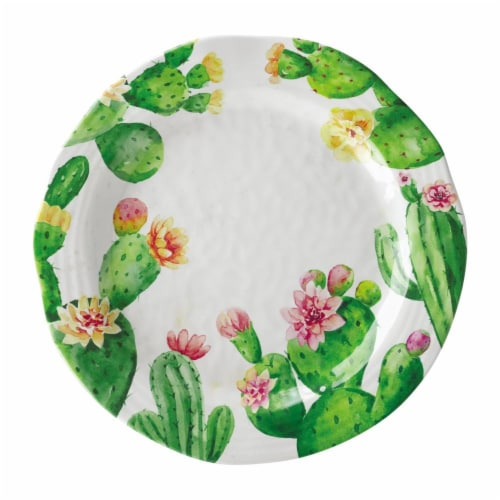 "Supreme Housewares Cactus, 10 7/8"" Melamine Plate Perspective: front"
