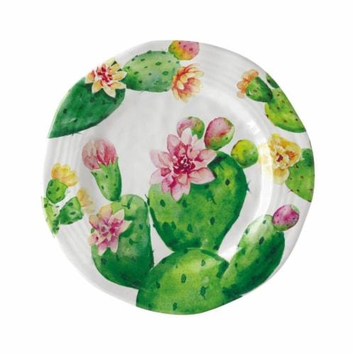 "Supreme Housewares Cactus, 9"" Melamine Plate Perspective: front"