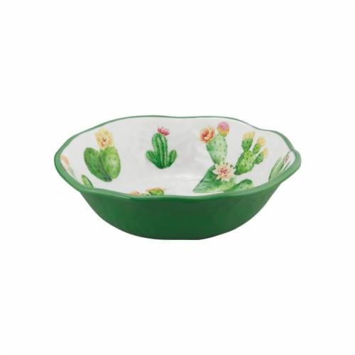 "Supreme Housewares Cactus, 7 1/2"" Melamine Bowl Perspective: front"
