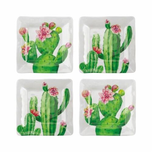 "Supreme Housewares Cactus, 6 1/8"" Melamine Plate Set of 4 Perspective: front"