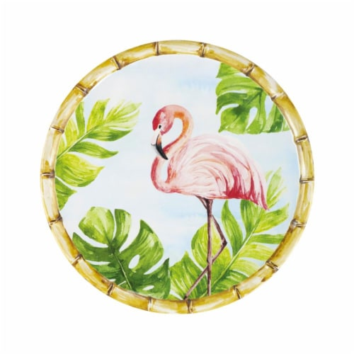 "Supreme Housewares Bamboo, Flamingo, 9"" Melamine Plate Perspective: front"