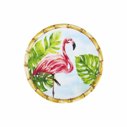 "Supreme Housewares Bamboo, Melamine Flamingo, 6"" Plate Set of 4 Perspective: front"