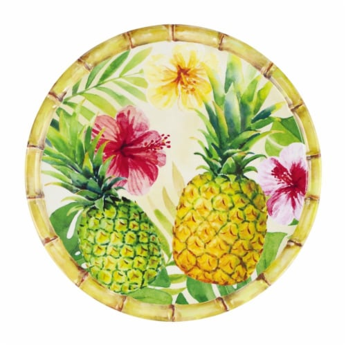 "Supreme Housewares Bamboo, Pineapple, 11"" Melamine Plate Perspective: front"