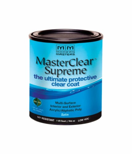 Modern Masters  MasterClear Supreme  Satin  Clear  Water-Based  Protective Coating  1 qt. - Perspective: front