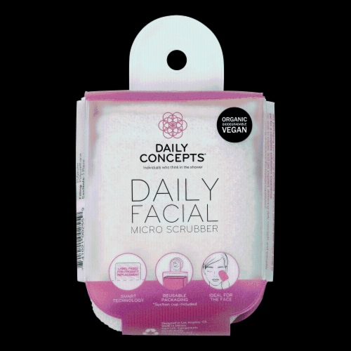 Daily Facial Micro Scrubber Perspective: front