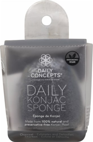 Daily Concepts  Your Konjac Sponge Charcoal Perspective: front