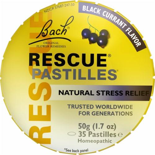 Bach Black Currant Rescue Pastilles Perspective: front