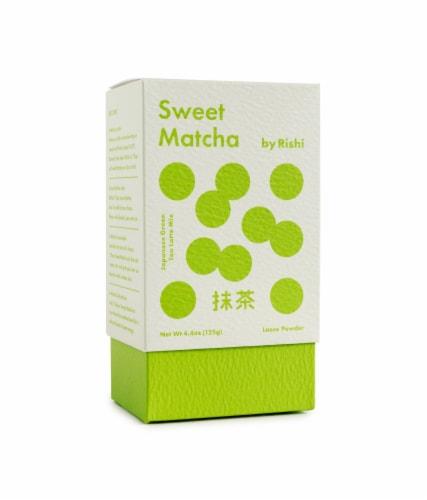 Rishi Sweet Matcha Japanese Loose Green Tea Latte Mix Perspective: front