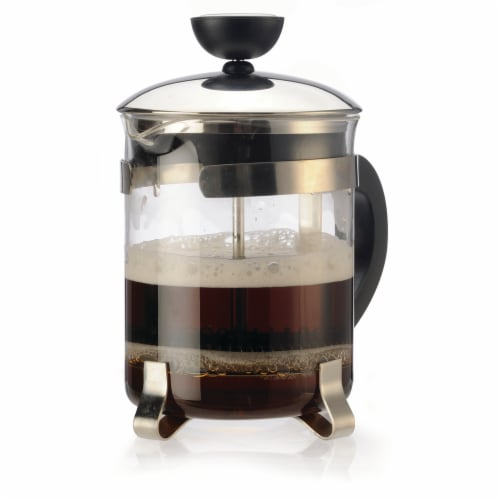 Primula Classic 4 Cup Coffee Press - Chrome Perspective: front