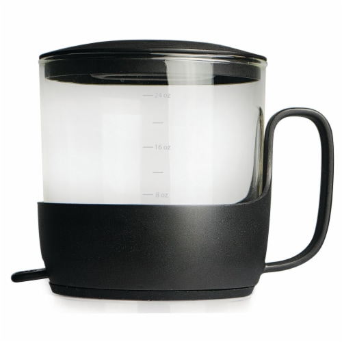 Primula Addison Glass Tea Steeper - Black Perspective: front