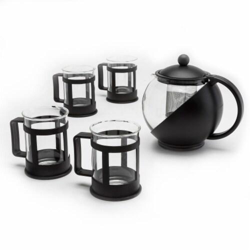Primula Half Moon Teapot Set - Black Perspective: front