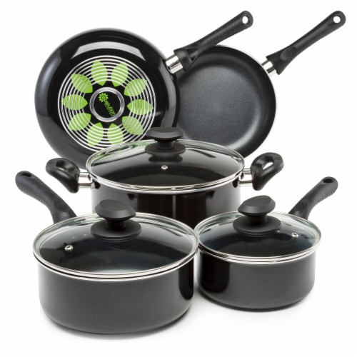 Ecolution Artistry Cookware Set - Black Perspective: front