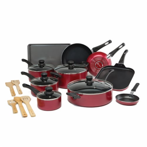Ecolution Easy Clean Cookware Set - Red Perspective: front