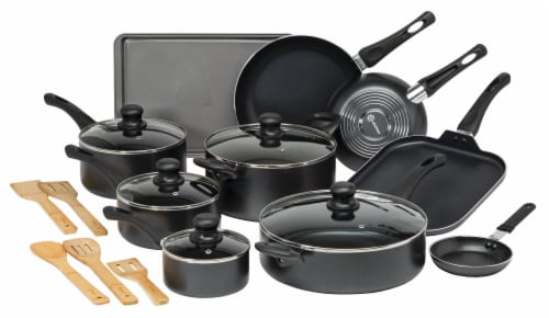 Ecolution Easy Clean Cookware Set - Black Perspective: front