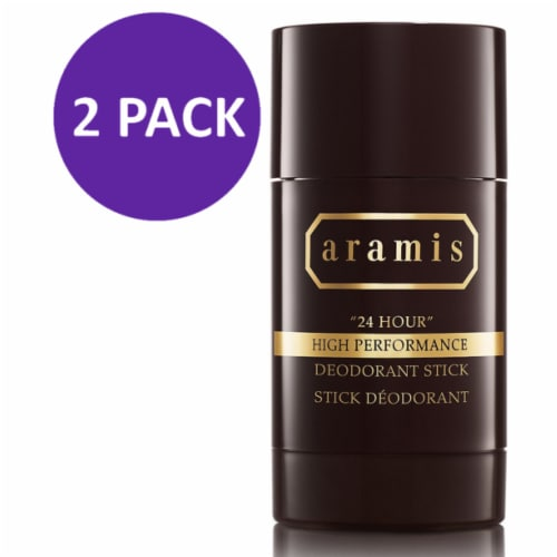 Aramis 24 Hour High Performance Deodorant Stick for Men 2.6 oz (PACK 2) Perspective: front